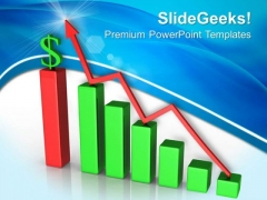 Increase Graph And Dollar Finance PowerPoint Templates And PowerPoint Themes 0612