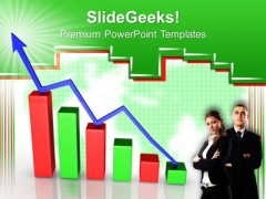 Increase Graph And Red Dollar Success PowerPoint Templates And PowerPoint Themes 0612
