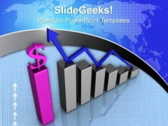 Increase In Dollar Graph Business PowerPoint Templates And PowerPoint Themes 0812