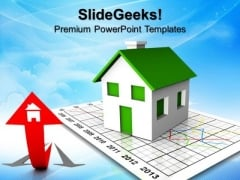 Increase In Housing Rates Business PowerPoint Templates And PowerPoint Themes 0912