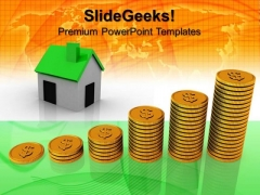 Increase In Prizes Real Estate PowerPoint Templates And PowerPoint Themes 0912