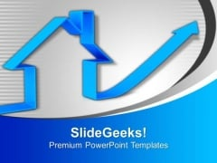 Increase In Process Real Estate Concept PowerPoint Templates Ppt Backgrounds For Slides 0113