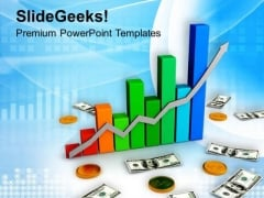Increase In Value Of Dollar PowerPoint Templates Ppt Backgrounds For Slides 0713
