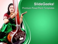 Indian Classical Singer Music PowerPoint Themes And PowerPoint Slides 0611