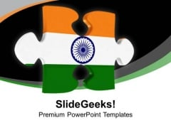 Indian Jigsaw Puzzle PowerPoint Templates Ppt Backgrounds For Slides 0113