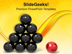 Individuality Concept For Leadership PowerPoint Templates Ppt Backgrounds For Slides 0513