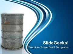 Industrial Oil Barrel Oil Industry PowerPoint Templates Ppt Backgrounds For Slides 0413