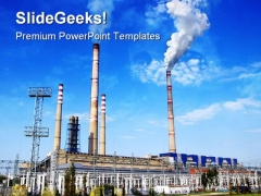 Industrial Pollution Enviornment PowerPoint Template 0810