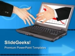 Information Technology Handshake PowerPoint Templates And PowerPoint Backgrounds 0711