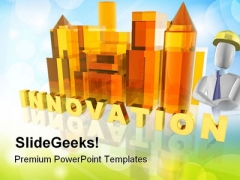 Innovation Construction PowerPoint Templates And PowerPoint Backgrounds 0611