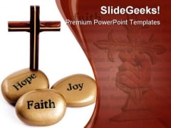 Inspirational Stones Religion PowerPoint Template 0910