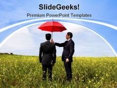 Insurance Agent Protection Security PowerPoint Themes And PowerPoint Slides 0711