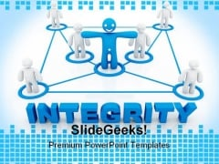Integrity Concept Communication PowerPoint Themes And PowerPoint Slides 0711