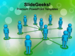 Interconnected Network Of People PowerPoint Templates And PowerPoint Themes 0912