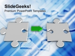 Interconnected Puzzles Business Solution PowerPoint Templates Ppt Backgrounds For Slides 0313