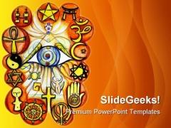Interfaith Religion PowerPoint Template 0610