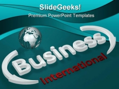 International Business PowerPoint Template 0810