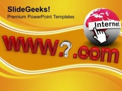 Internet Address Computer Domain Name PowerPoint Templates Ppt Backgrounds For Slides 0213