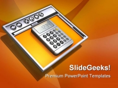 Internet Browser And Calculator Technology PowerPoint Themes And PowerPoint Slides 0711