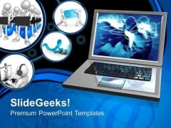 Internet Connection Technology PowerPoint Templates And PowerPoint Themes 0612