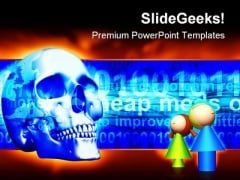 Internet Dangers Computer PowerPoint Templates And PowerPoint Backgrounds 0611
