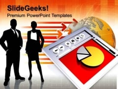 Internet Explorer Statistic Trends PowerPoint Templates And PowerPoint Themes 1012