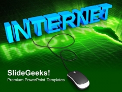 Internet With Computer Mouse PowerPoint Templates And PowerPoint Themes 0812