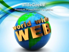 Internet Www Globe PowerPoint Templates And PowerPoint Backgrounds 0311