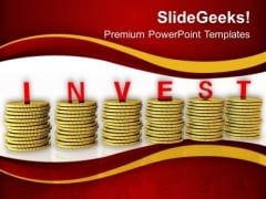 Invest Money In Right Business PowerPoint Templates Ppt Backgrounds For Slides 0613