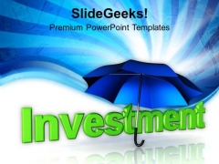 Investment Umbrella Business Finance PowerPoint Templates And PowerPoint Themes 1112