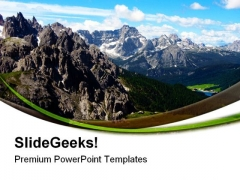 Italian Mountain Nature PowerPoint Templates And PowerPoint Backgrounds 0611
