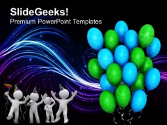 Its Party Time Celebration PowerPoint Templates Ppt Backgrounds For Slides 0513