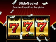 Jackpot Winner Games PowerPoint Themes And PowerPoint Slides 0511