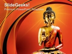 Jain Buddha Statue Religion PowerPoint Templates And PowerPoint Themes 0812