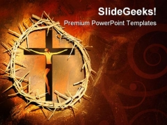 Jesus Crown Religion PowerPoint Template 1110