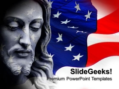 Jesus In Usa Americana PowerPoint Templates And PowerPoint Themes 0712