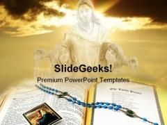 Jesus Religion PowerPoint Template 1110