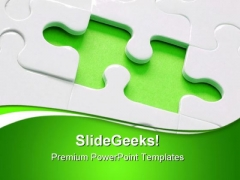 Jigsaw Puzzle Business PowerPoint Templates And PowerPoint Backgrounds 0611