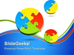 Jigsaw Puzzle Business PowerPoint Templates And PowerPoint Backgrounds 0811