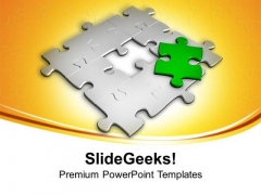 Jigsaw Puzzle With Missing Piece PowerPoint Templates Ppt Backgrounds For Slides 0413