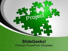 Jigsaw Puzzles Forming Project Business PowerPoint Templates Ppt Backgrounds For Slides 0113