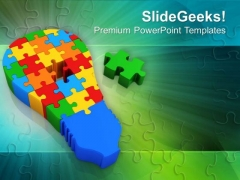 Jigsaw Puzzles With Abstract Background PowerPoint Templates Ppt Backgrounds For Slides 0413