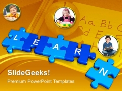 Jigsaw Puzzles With Learn Education PowerPoint Templates And PowerPoint Themes 1012