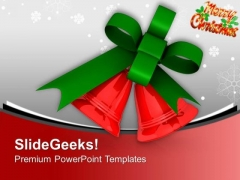 Jingle Bells For This Christmas PowerPoint Templates Ppt Backgrounds For Slides 0513