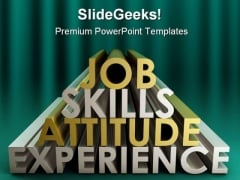 Job Skills Business PowerPoint Template 1010