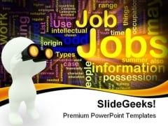 Jobs Search Youth PowerPoint Templates And PowerPoint Backgrounds 0311