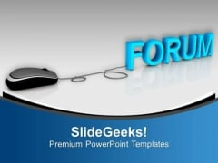 Join Forum For Problem Solving PowerPoint Templates Ppt Backgrounds For Slides 0813