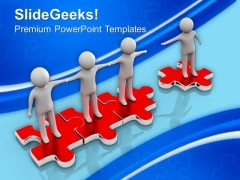 Join Our Community Puzzle Teamwork PowerPoint Templates And PowerPoint Themes 1012