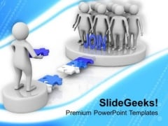 Join The Right Community PowerPoint Templates Ppt Backgrounds For Slides 0713
