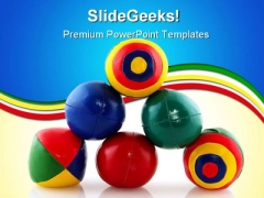 Juggle Balls Shapes PowerPoint Themes And PowerPoint Slides 0411